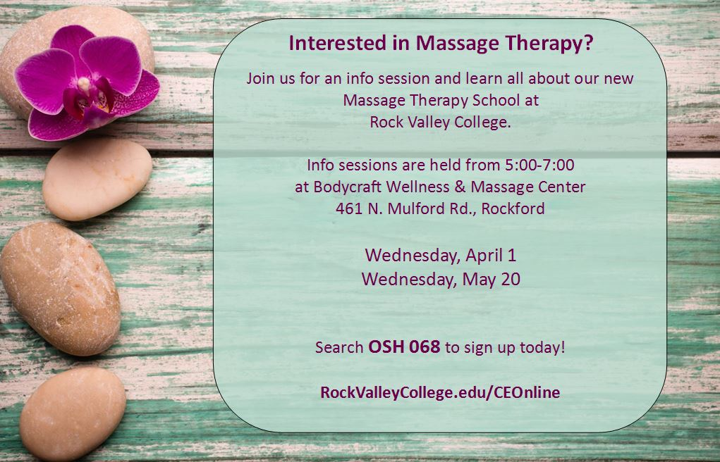 Spring Massage Therapy Info Sessions